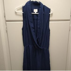 PARKER wrap Dress Blue Waterfall Cocktail Dress